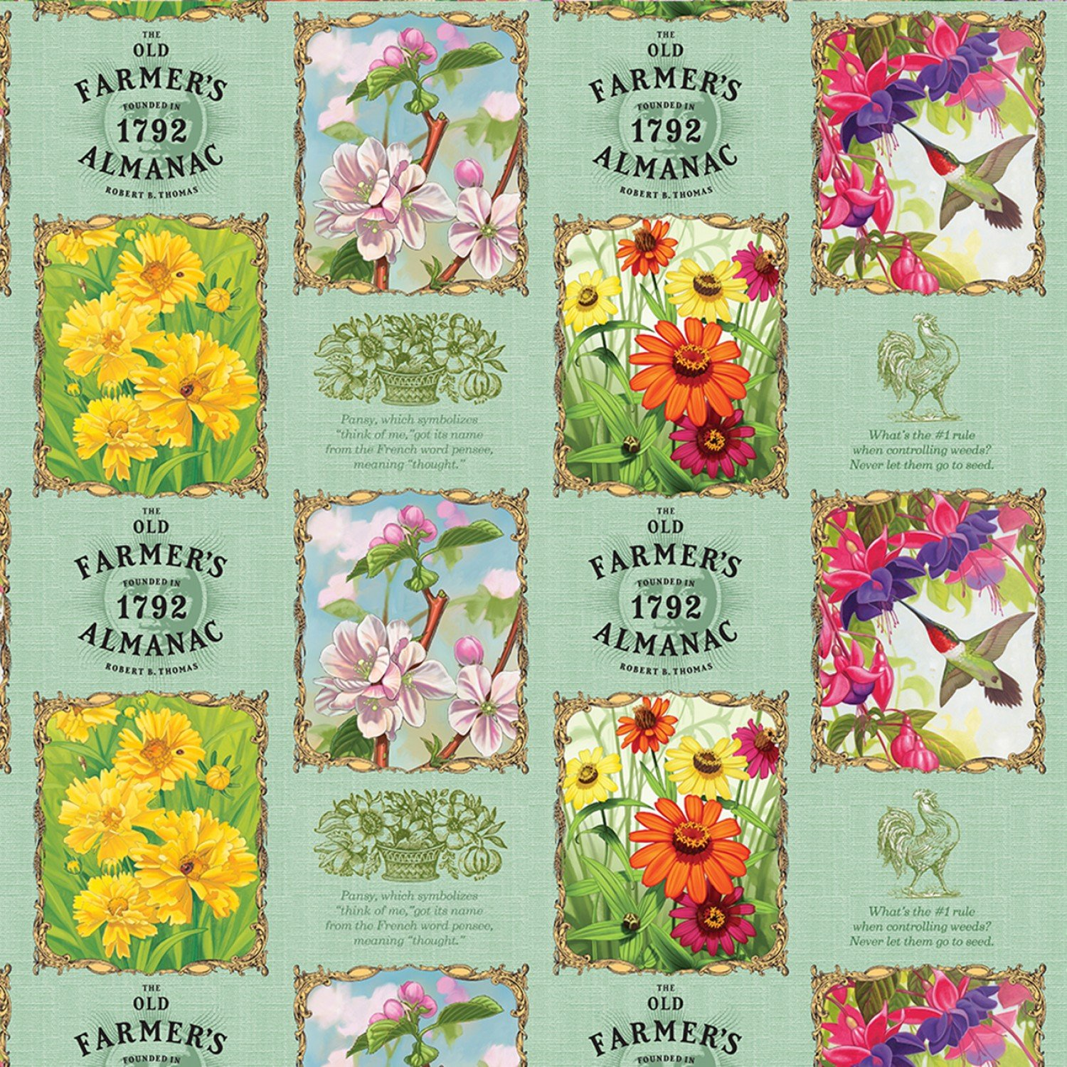 SF-Old Farmers Almanac Floral 10326-OFA Floral Patch