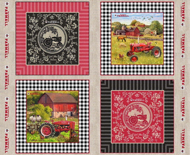 SF-Farmhouse Sweet Farmhouse 10337 Toile Burlap Pillow Panel 36 x 44