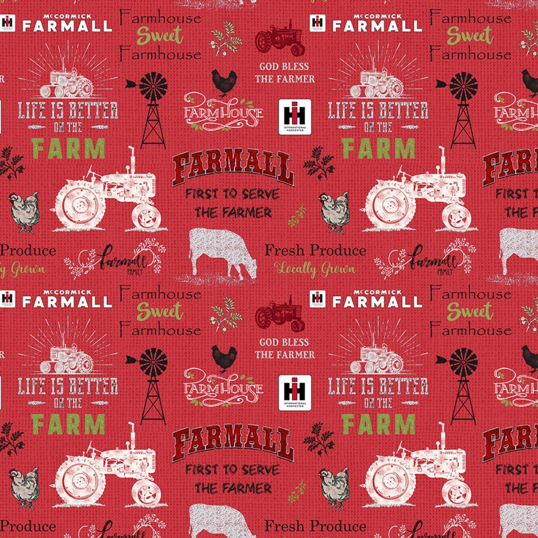SF-Farmhouse Sweet Farmhouse 10341 Chalkboard Allover - Red