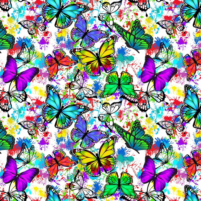 SF-Butterflies in Flight 10345 Butterfly Drops of Color