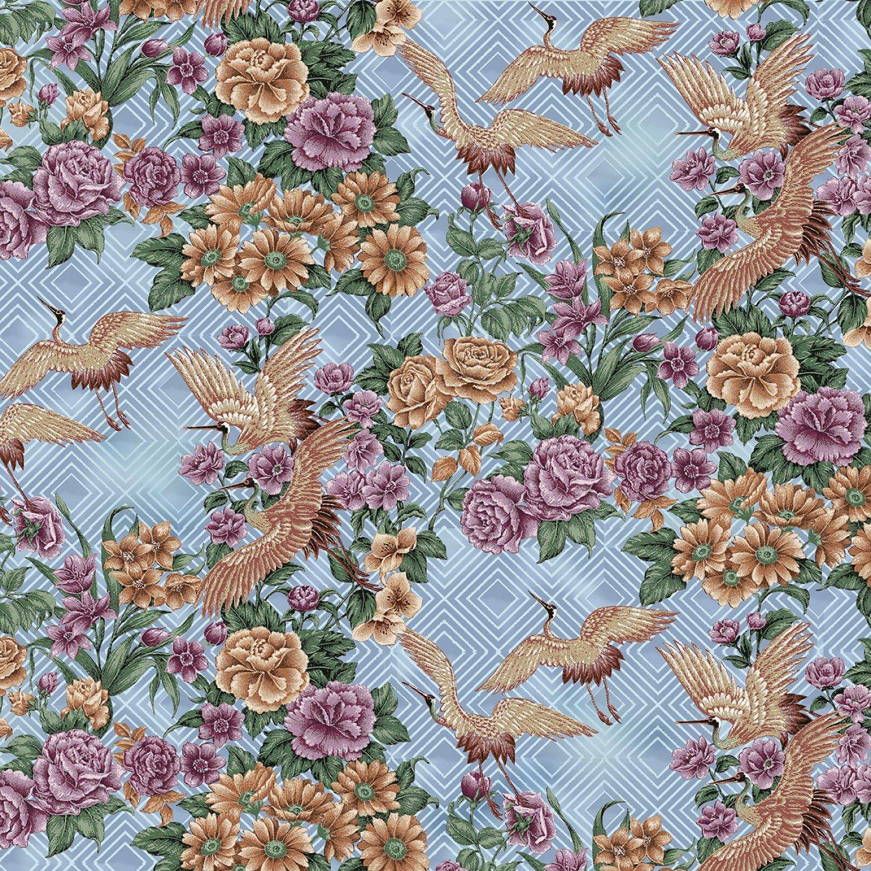 SF-Japanese Elegance 10400 Japanese Floral Cranes