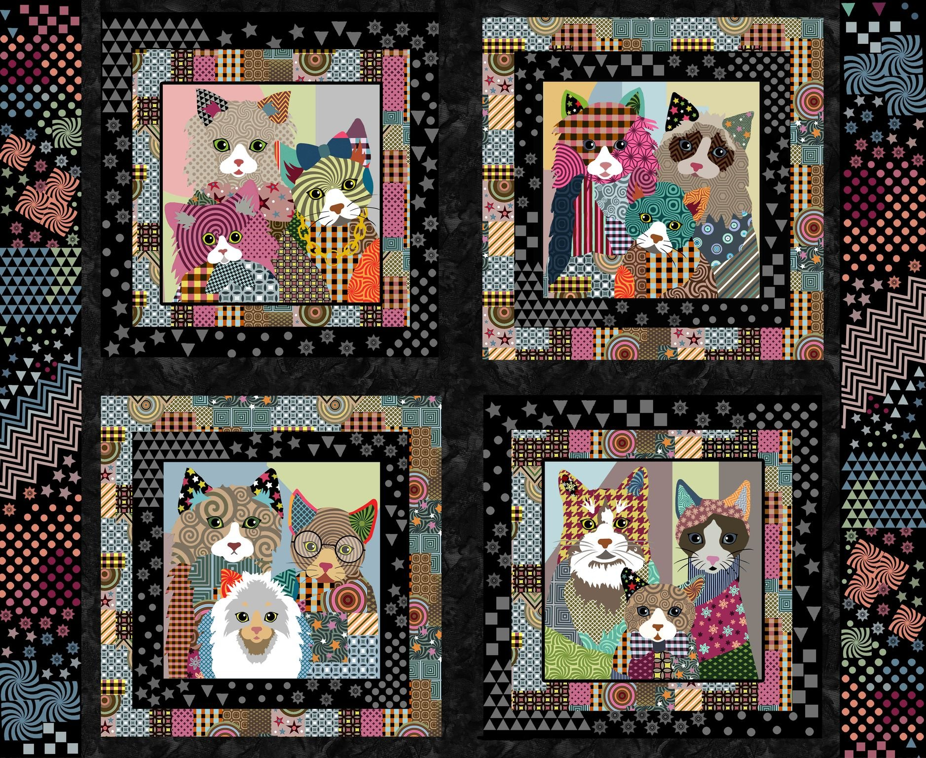 SF-Life's Better with a Cat 10413 Cat Pillow Panel 36 x 44