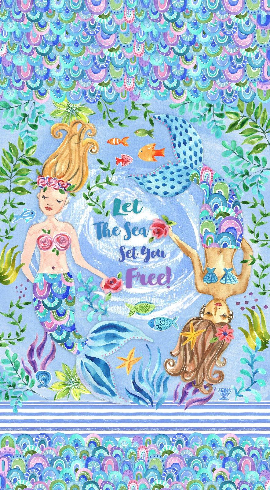 SF-Let the Sea Set You Free 10419 Mermaid Panel