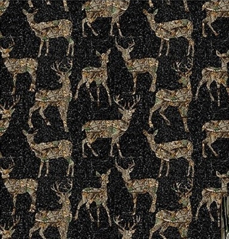 Realtree EDGE  1172 Deer on Black