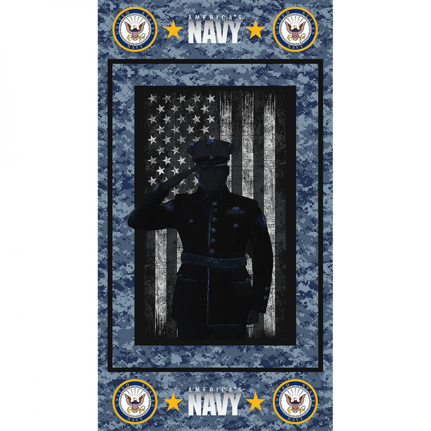 Sykel-Military Cotton 1195-N Navy 24 Panel