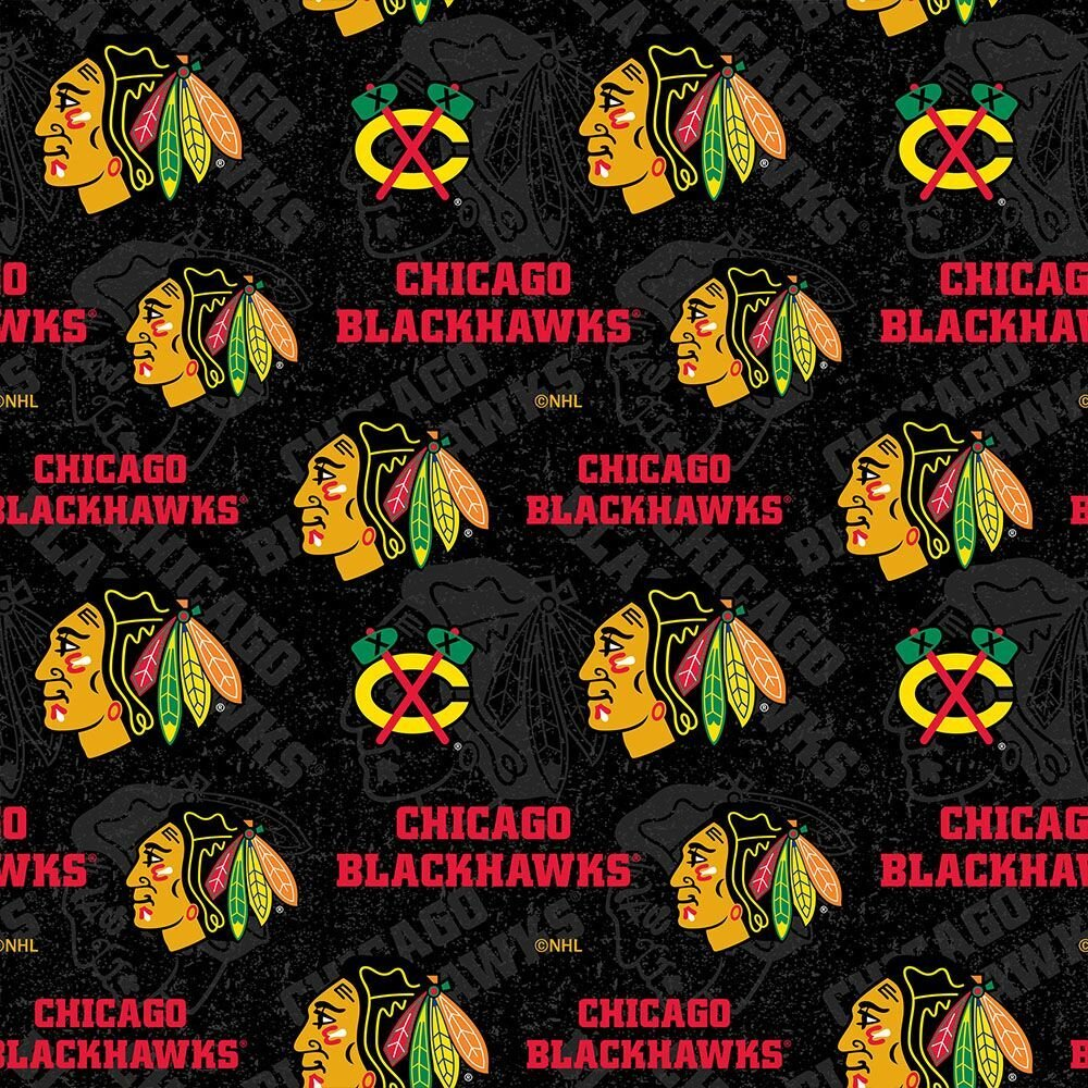 Sykel-NHL Cotton 1199 BLK Chicago Blackhawks