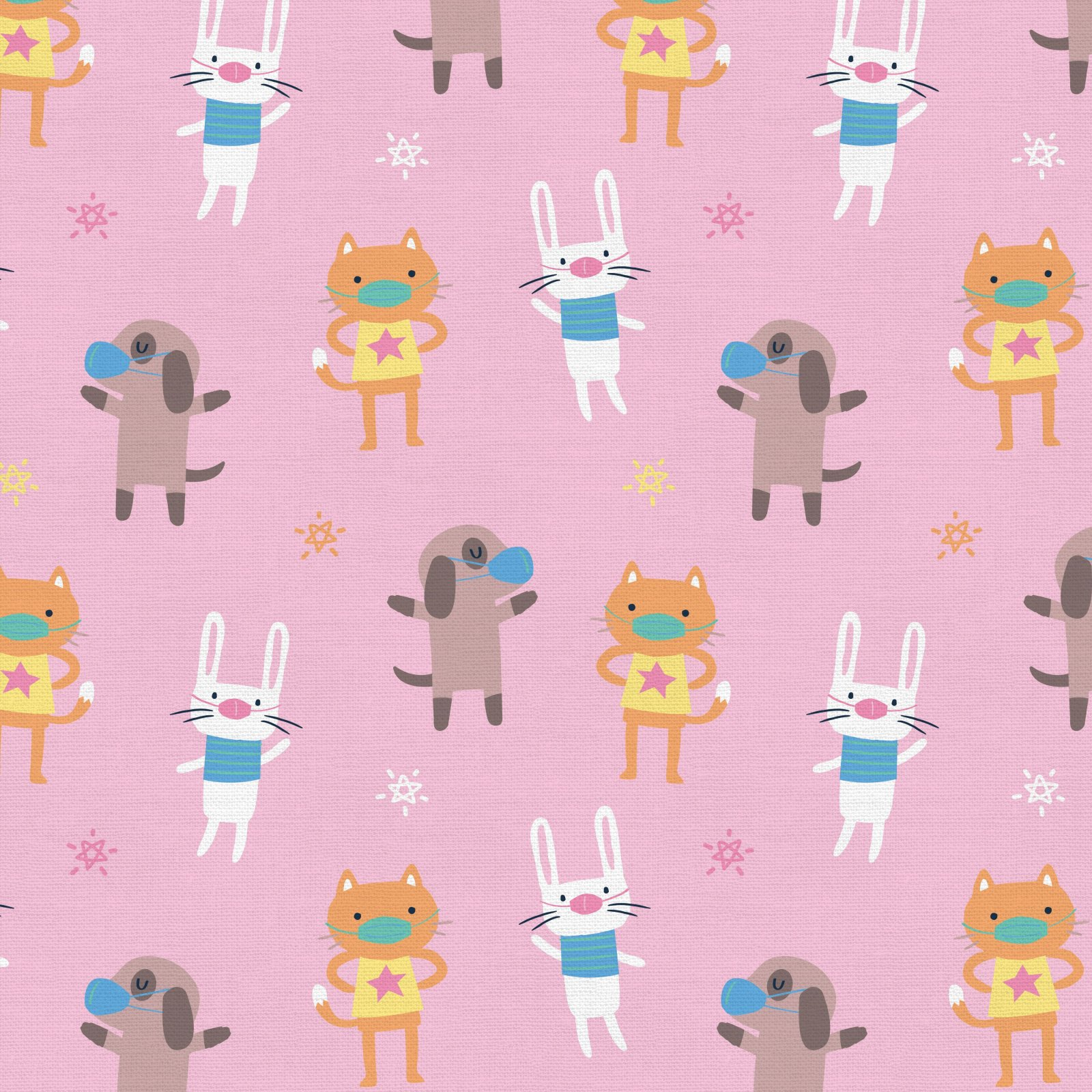 PROMO* PS-Mask Up! 120-21769 Pink - Cat Dog Bunny