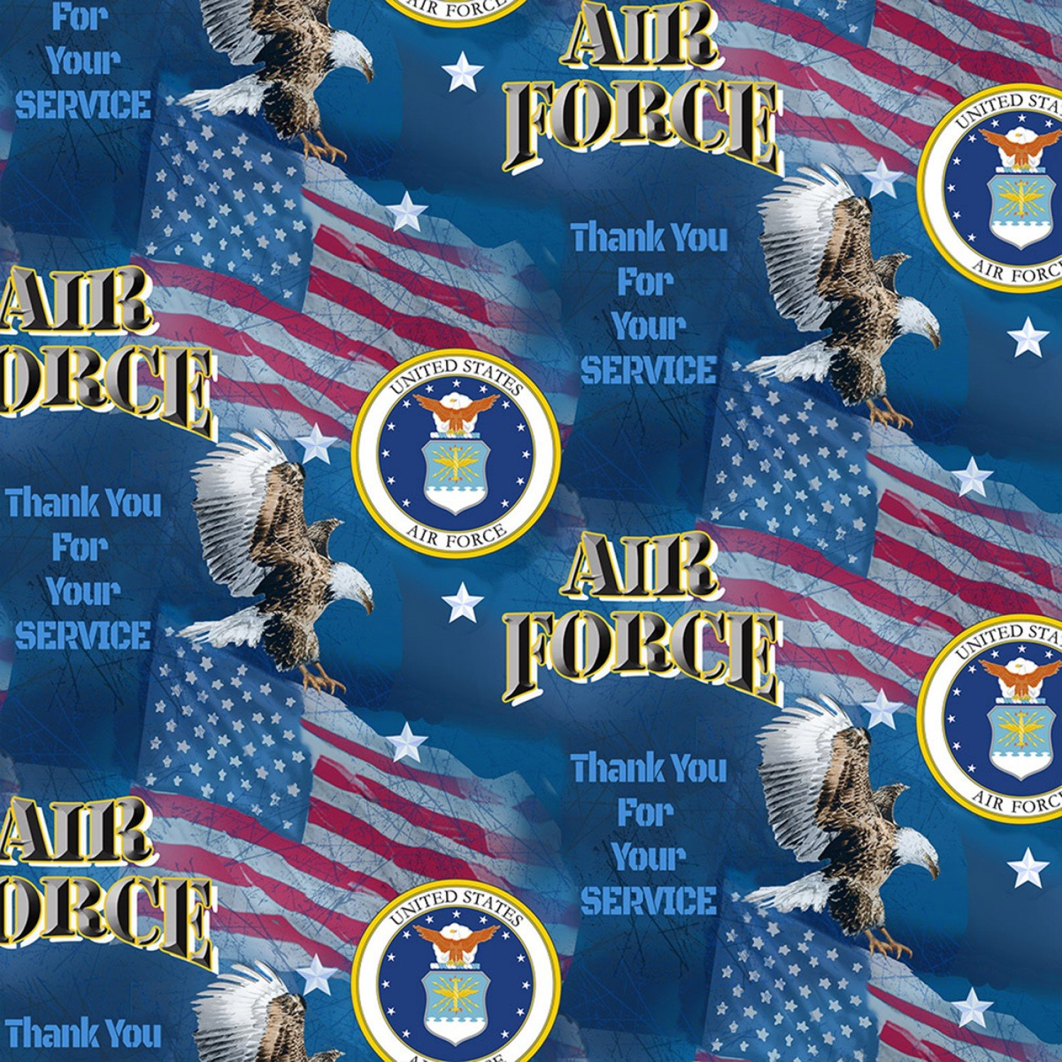Sykel-Military Cotton 1253 AF Air Force Military Flags