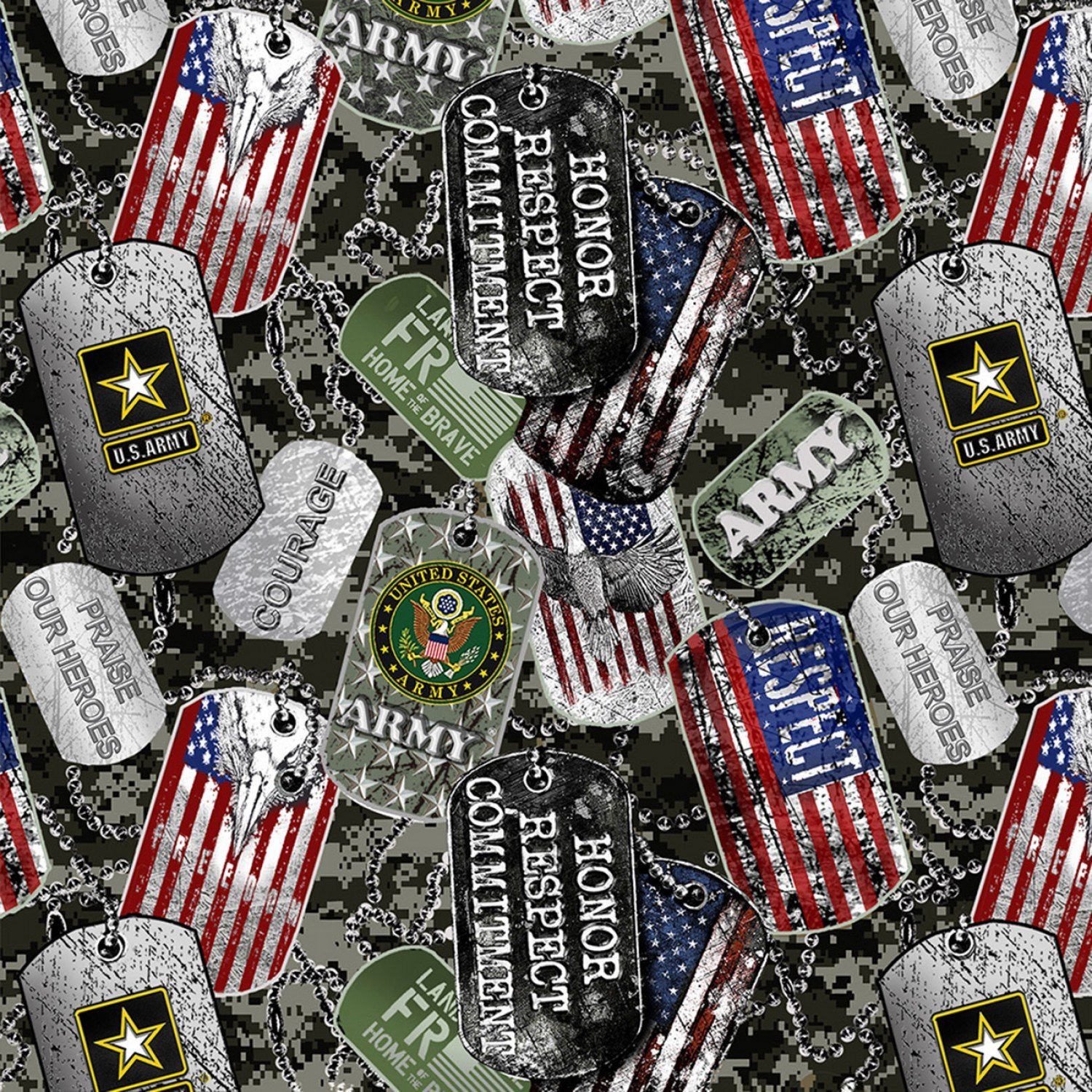 Sykel-Military Cotton 1254A Army DogTags
