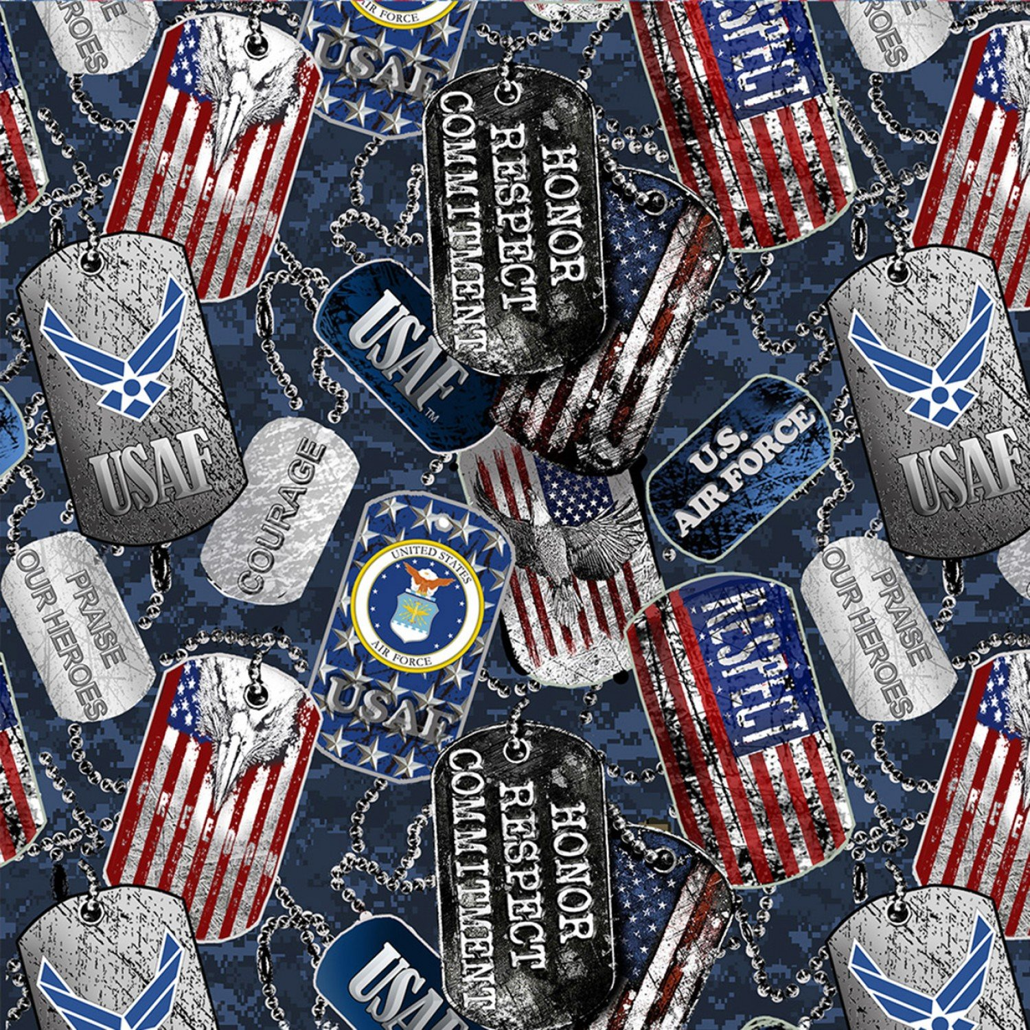 Sykel-Military Cotton 1254AF Air Force DogTags