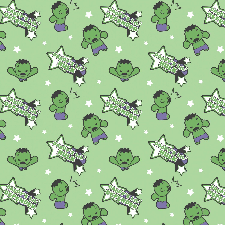 CF-Character Nursery 13021055-01 Green - Daddy's Little Hulk