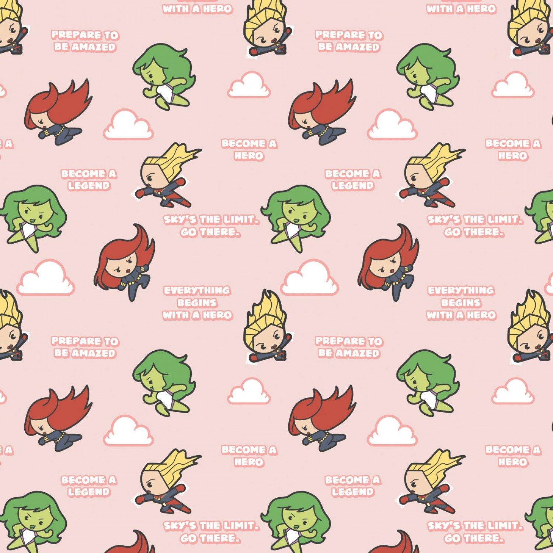 CF-Character Nursery 13021059-02 Pink - Hero Girl Power