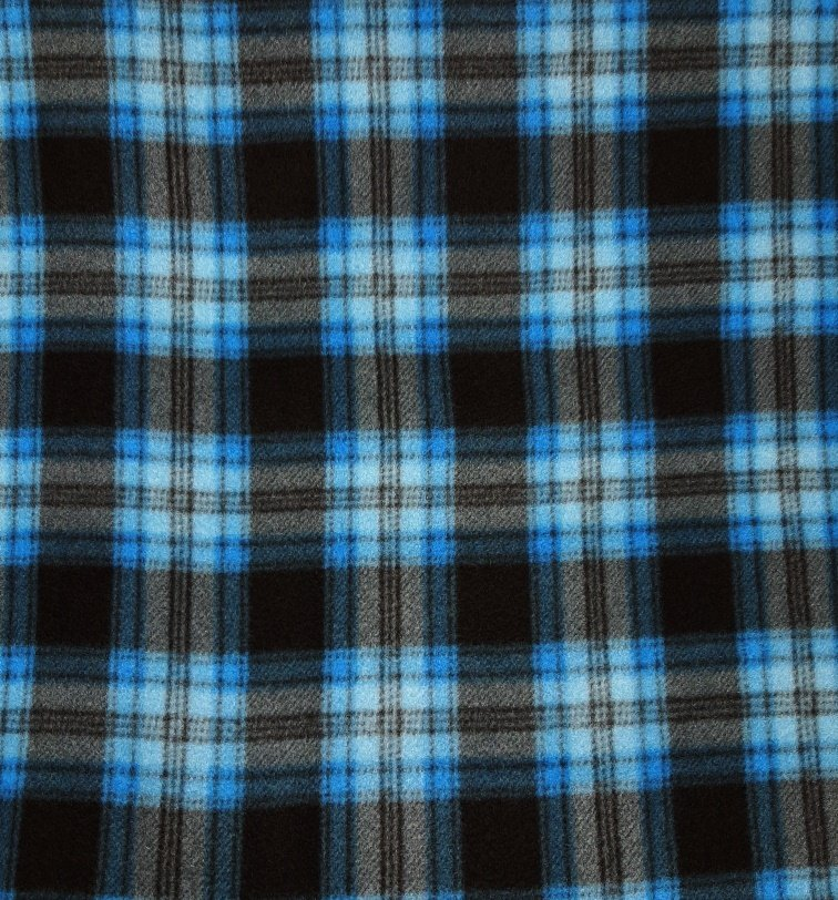 PROMO* FT-Blizzard Fleece 1355-3532 Blue Black Plaid