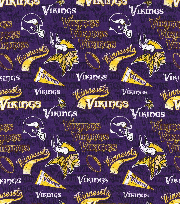 FT-NFL Cotton 14446-D Minnesota Vikings