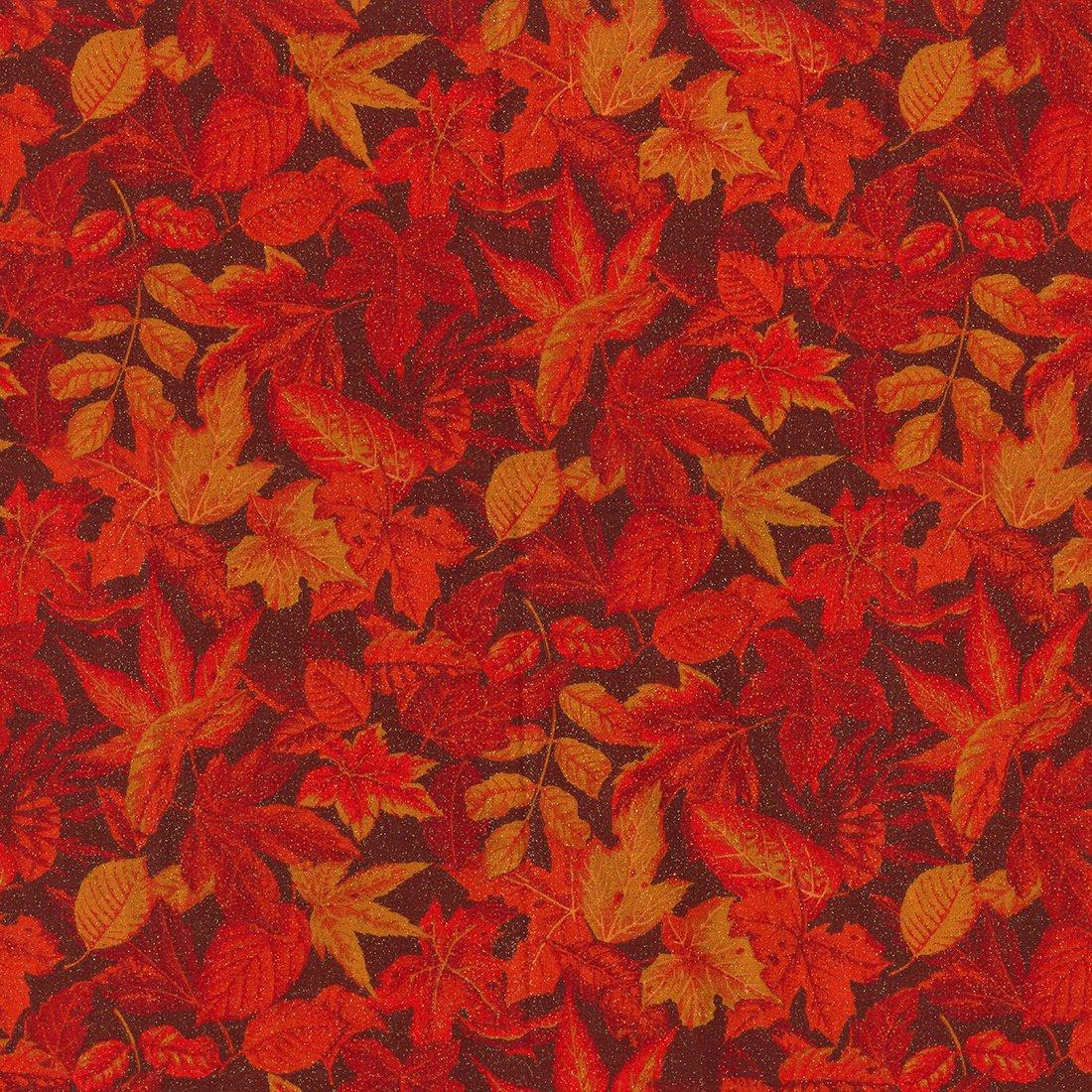 FT-Fall Holidays 15178-OG GLITTER Leaves