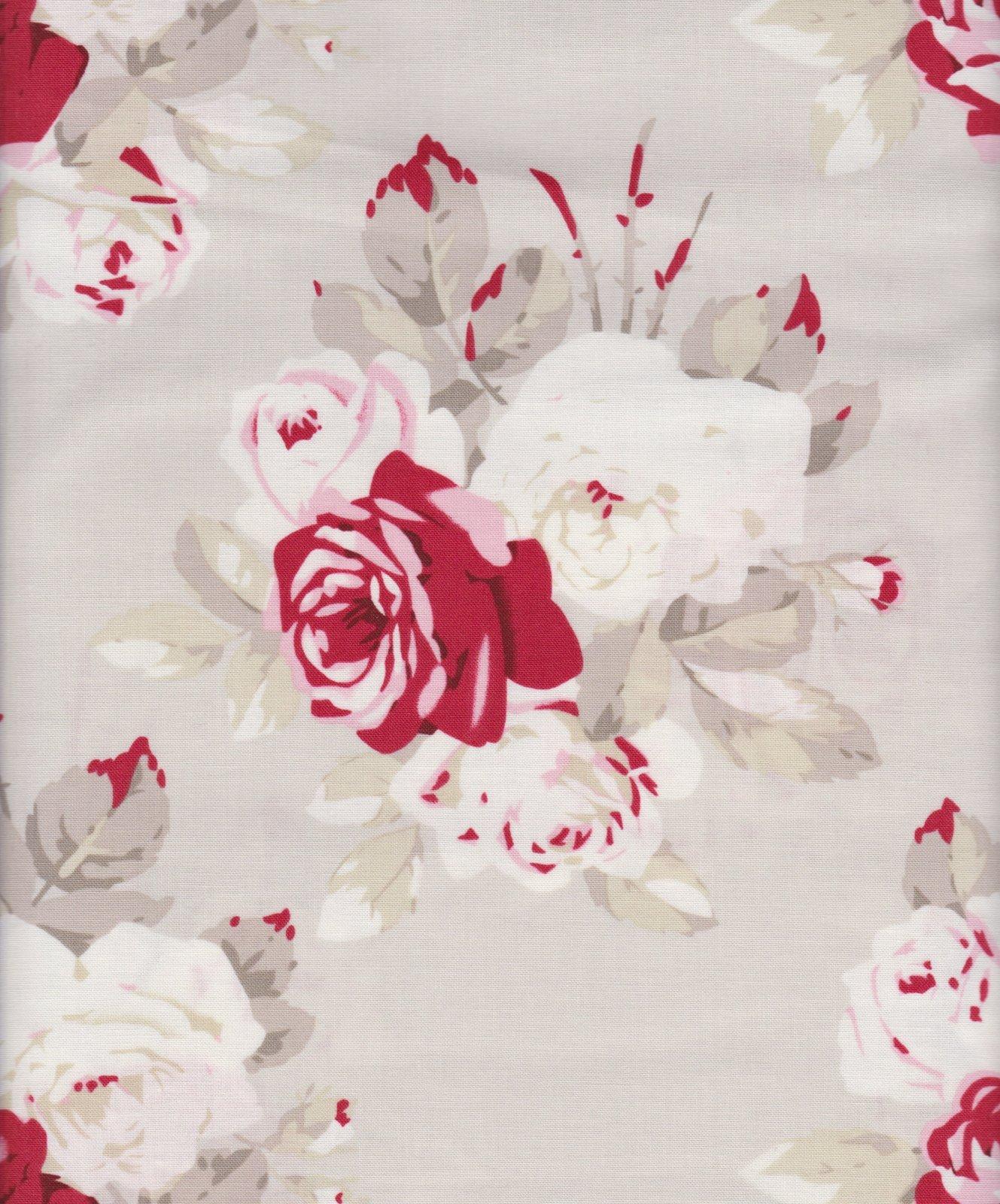 PROMO* FT-Floral Prints 16348 Roses on Tan