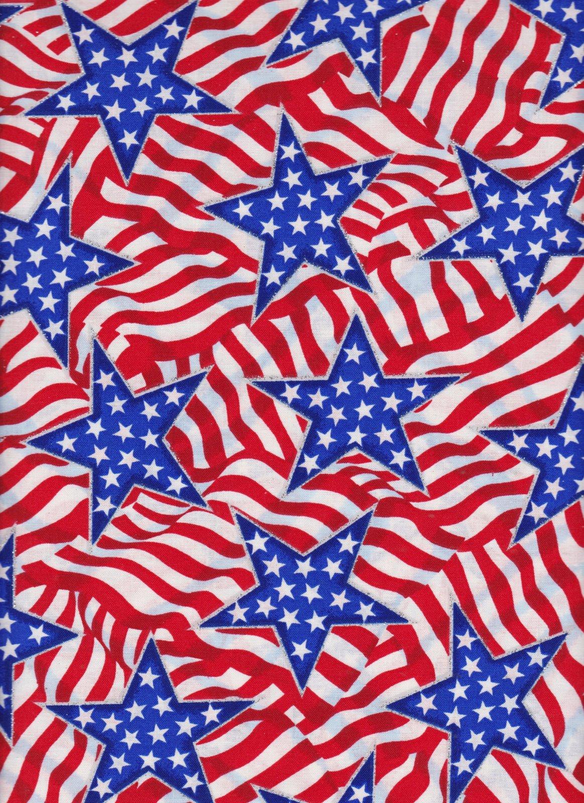 PROMO* FT-Patriotic Prints 16659 Pattern Stars & Stripes w/Glitter