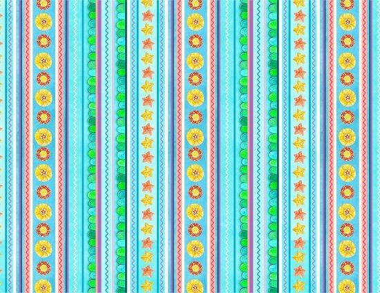 PROMO* ES-Little Mermaids 17005 Blue - Stripe