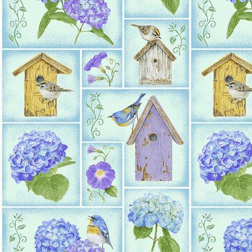 HG-Hydrangea Birdsong 1759-75 Blue - Small Blocks