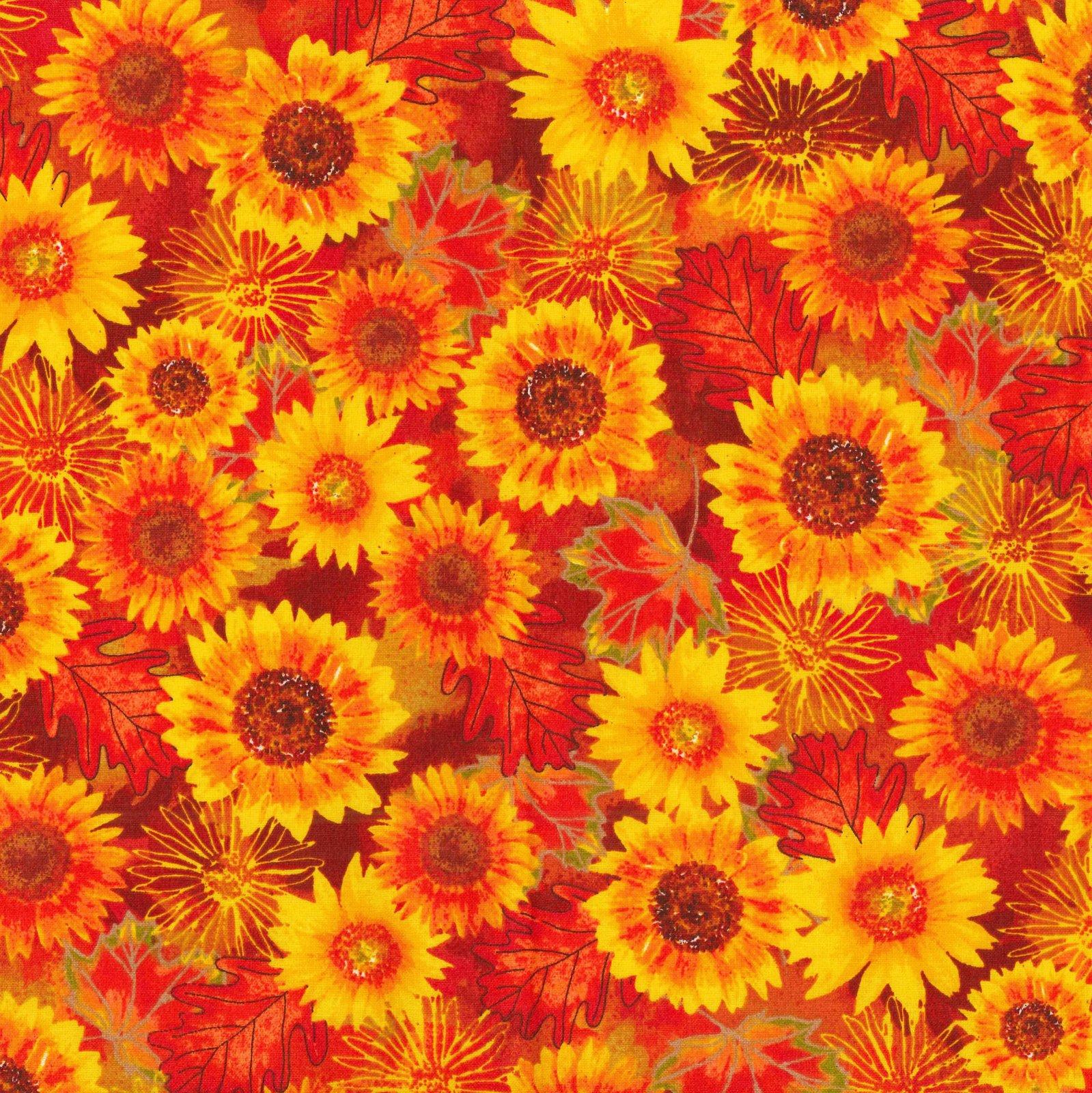 FT-Fall Holidays 17786-O Autumn Flowers