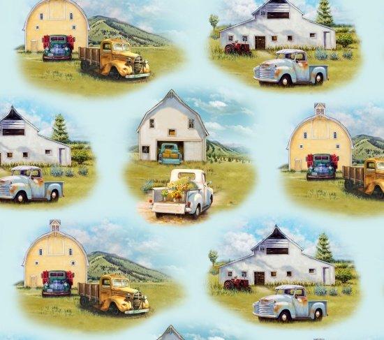 PROMO* ES-Vintage Trucks 21001 Blue - Scenic Vintage Trucks