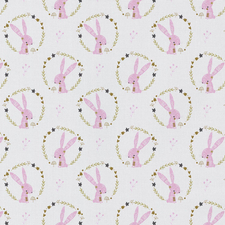 PROMO* CF-Woodland Portrait 2143703WM-02 White - Bunny w/Wreath