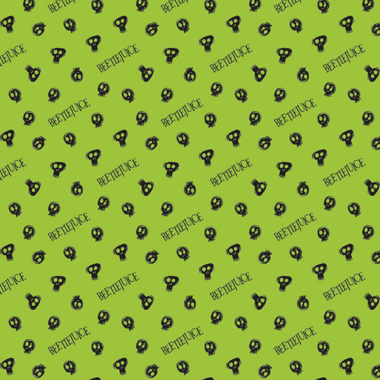 CF-Beetlejuice 23340102-01 Green - Tossed Skulls