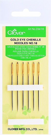 Clover - 234/18 Gold Eye Chenille Needles (No. 18)