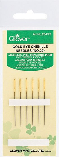 Clover - 234/22 Gold Eye Chenille Needles (No. 22)