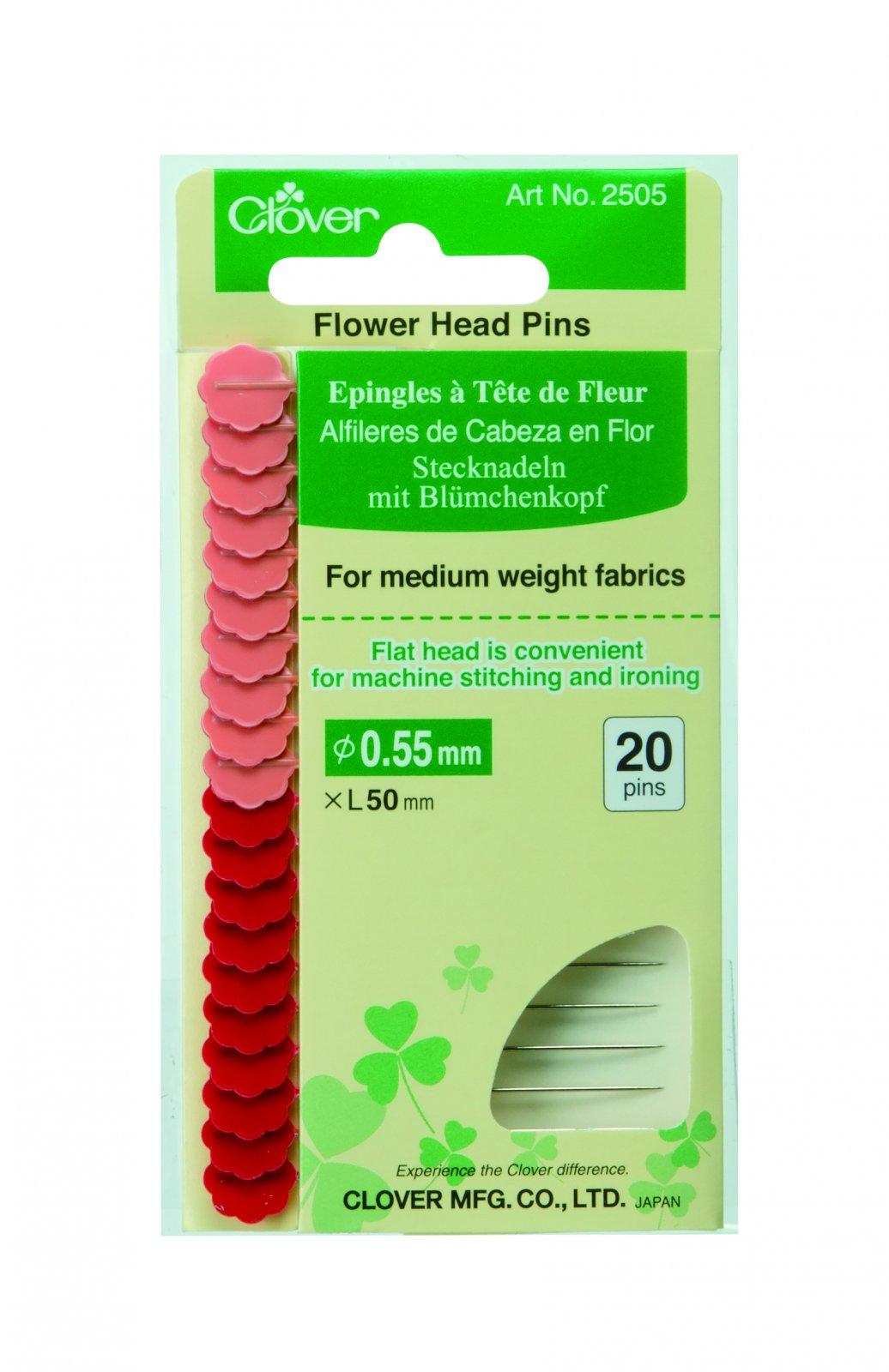 Clover - 2505 Flower Head Pins (Carded)