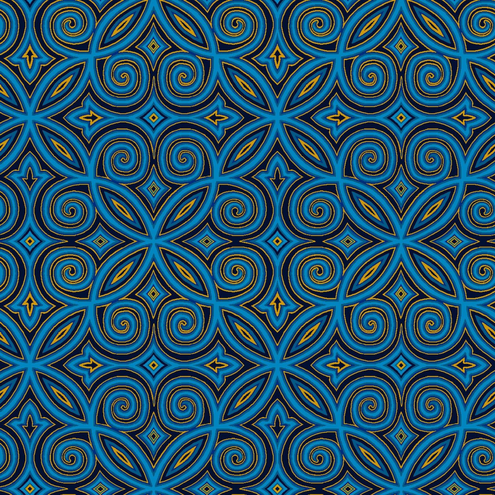 HG-Silent Night (Metallic) 2510M-77 Blue - Arabesque