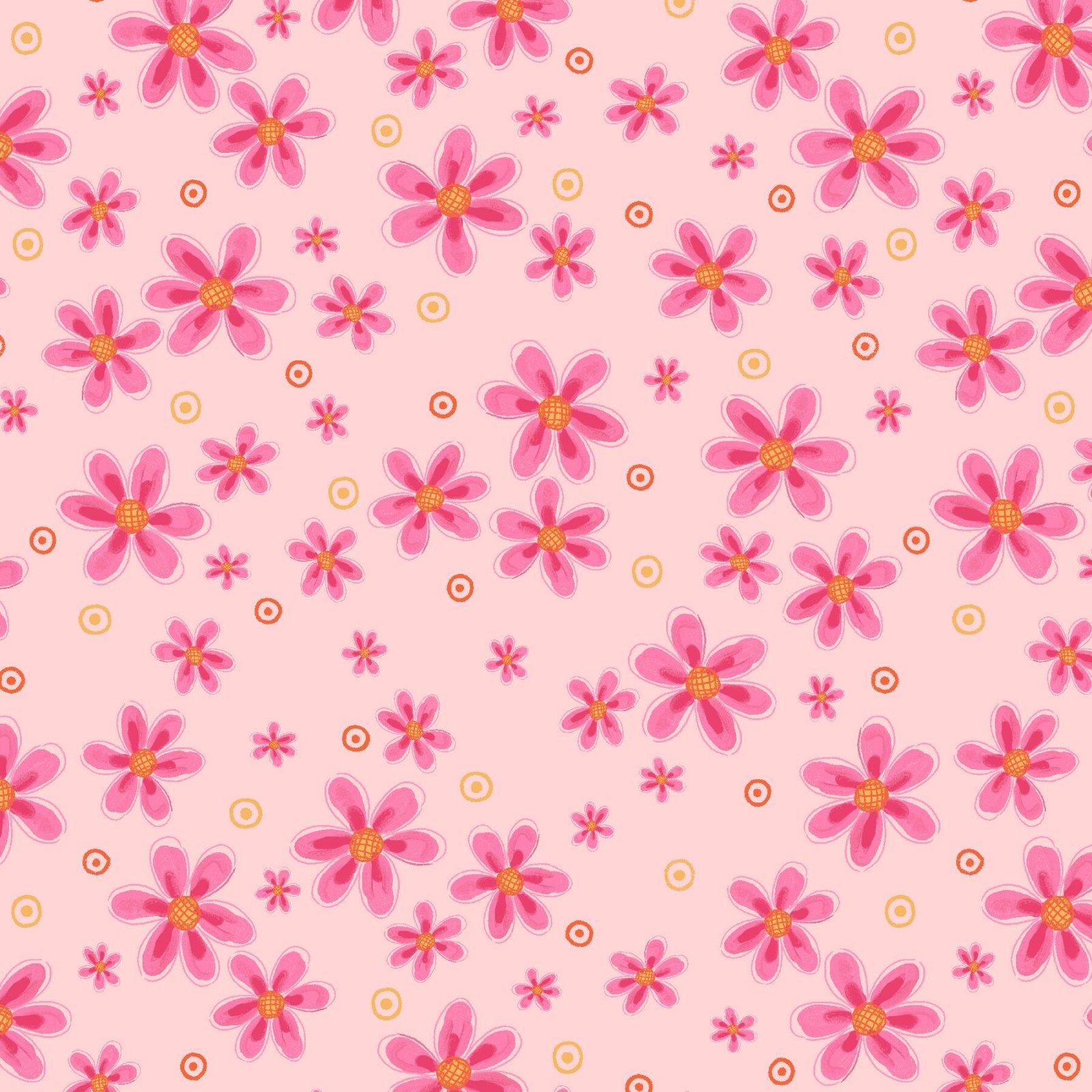 HG-Easter Fun 2571-22 Pink - Small Flower Toss