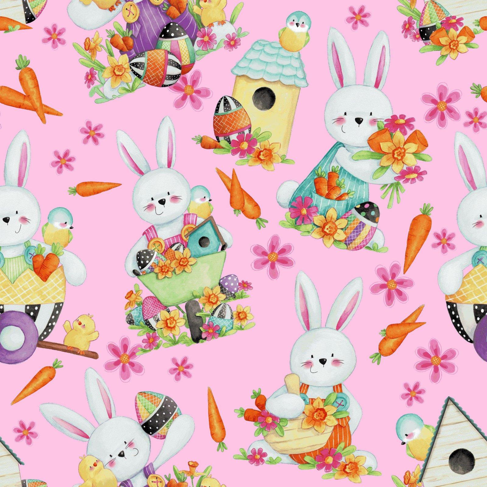 HG-Easter Fun 2575-22 Pink - Bunny Toss