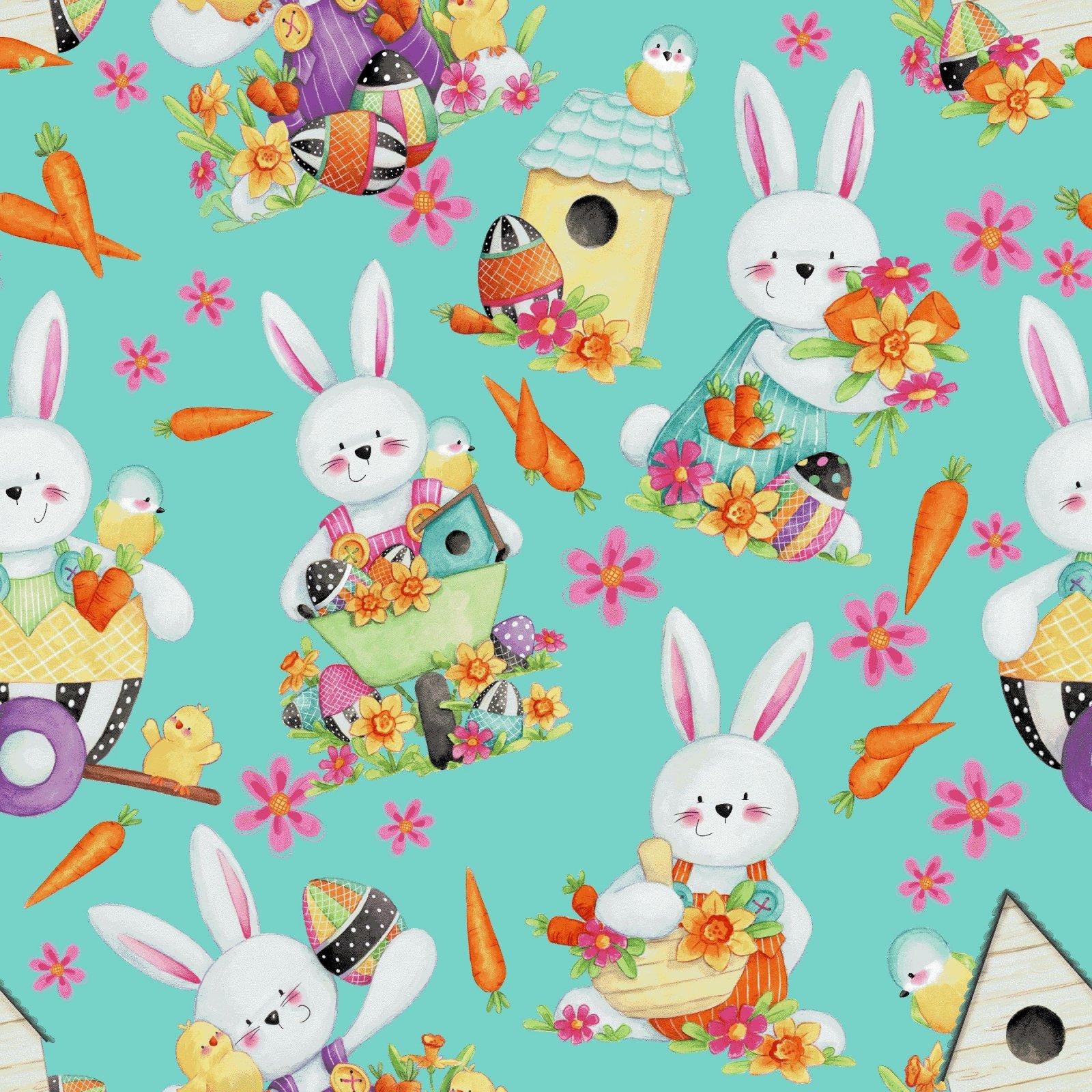 HG-Easter Fun 2575-76 Aqua - Bunny Toss
