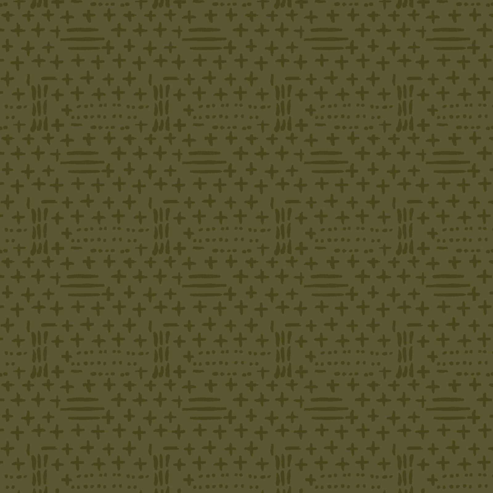 HG-Folk Art Flannel IV 2583F-66 Forest - Dots and Dashes