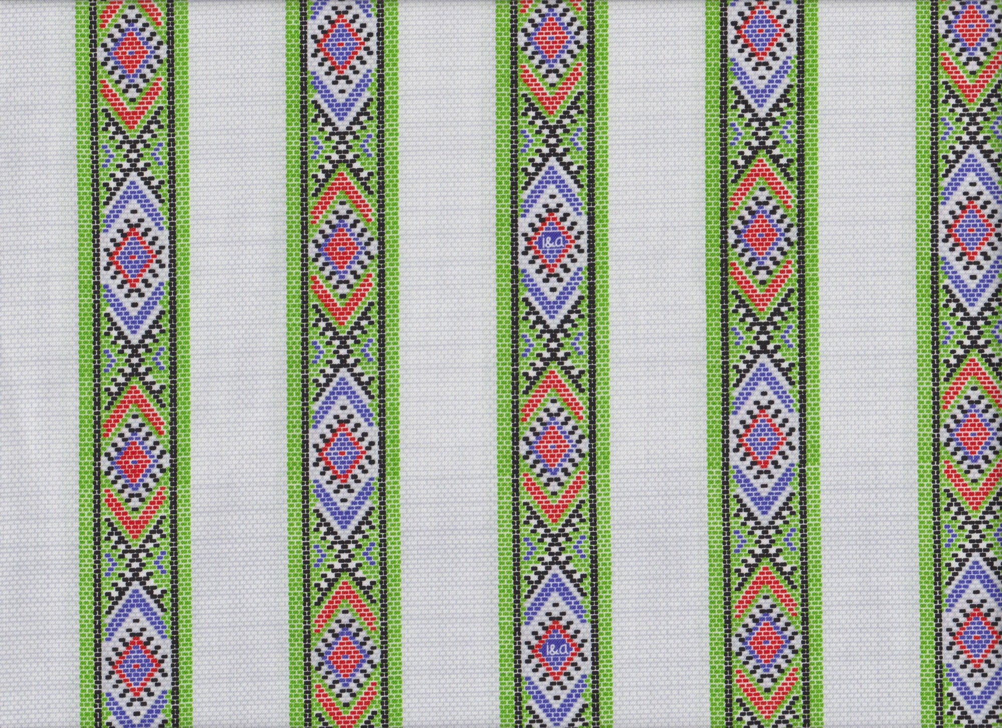 PROMO* QT-Ink & Arrow Indian Paintbrush 26138-KZ Tribal Stripes - White
