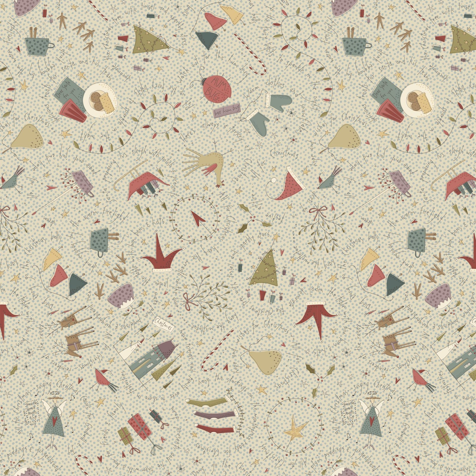 HG-All for Christmas 2672-33 Cream - Large Allover