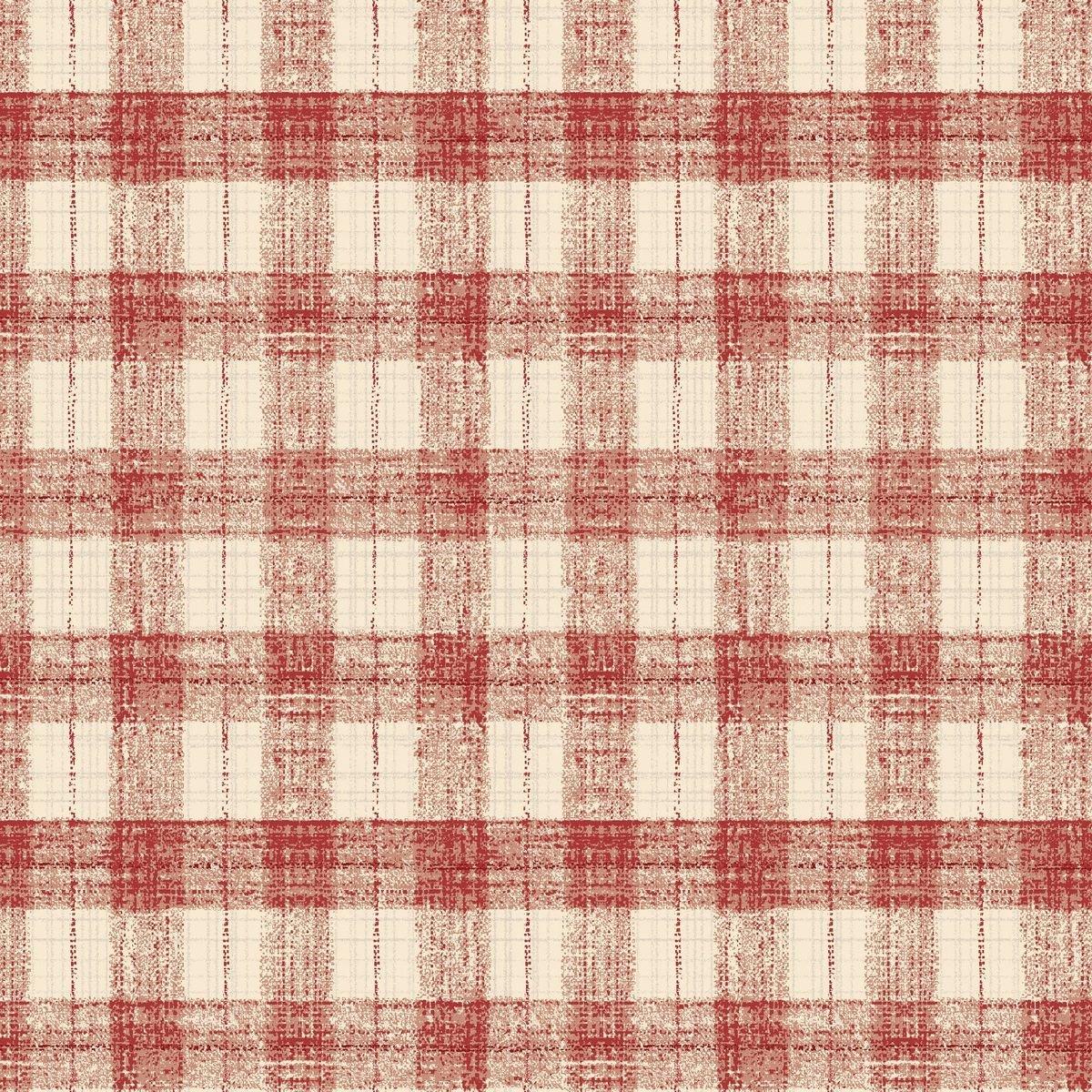 HG-Blessings of Home 2680-82 Lt Red/Cream - Monotone Checks
