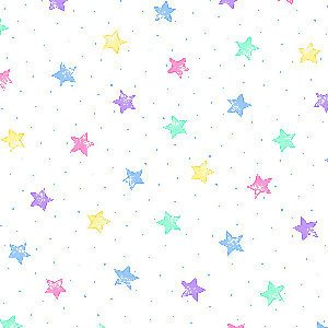 AE-Comfy Flannel Print 3128X-124 Pastel Stars