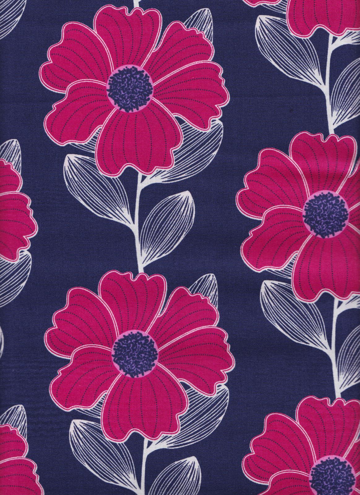 PROMO* CF-Anchors Away 4140501WM-01 Blue - Pink Flowers