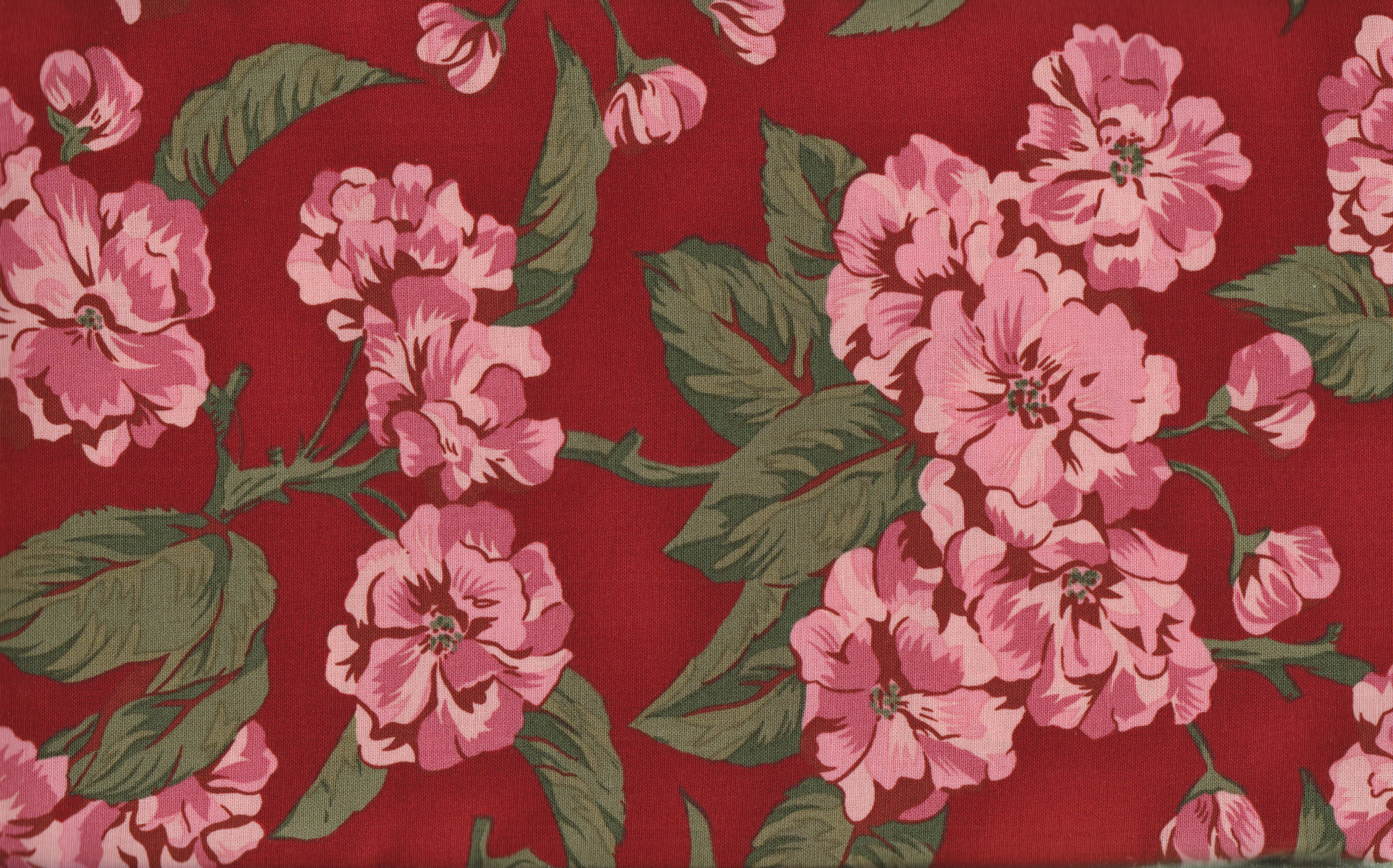 PROMO* Boundless Pre Cuts - 42835 Red Main Floral