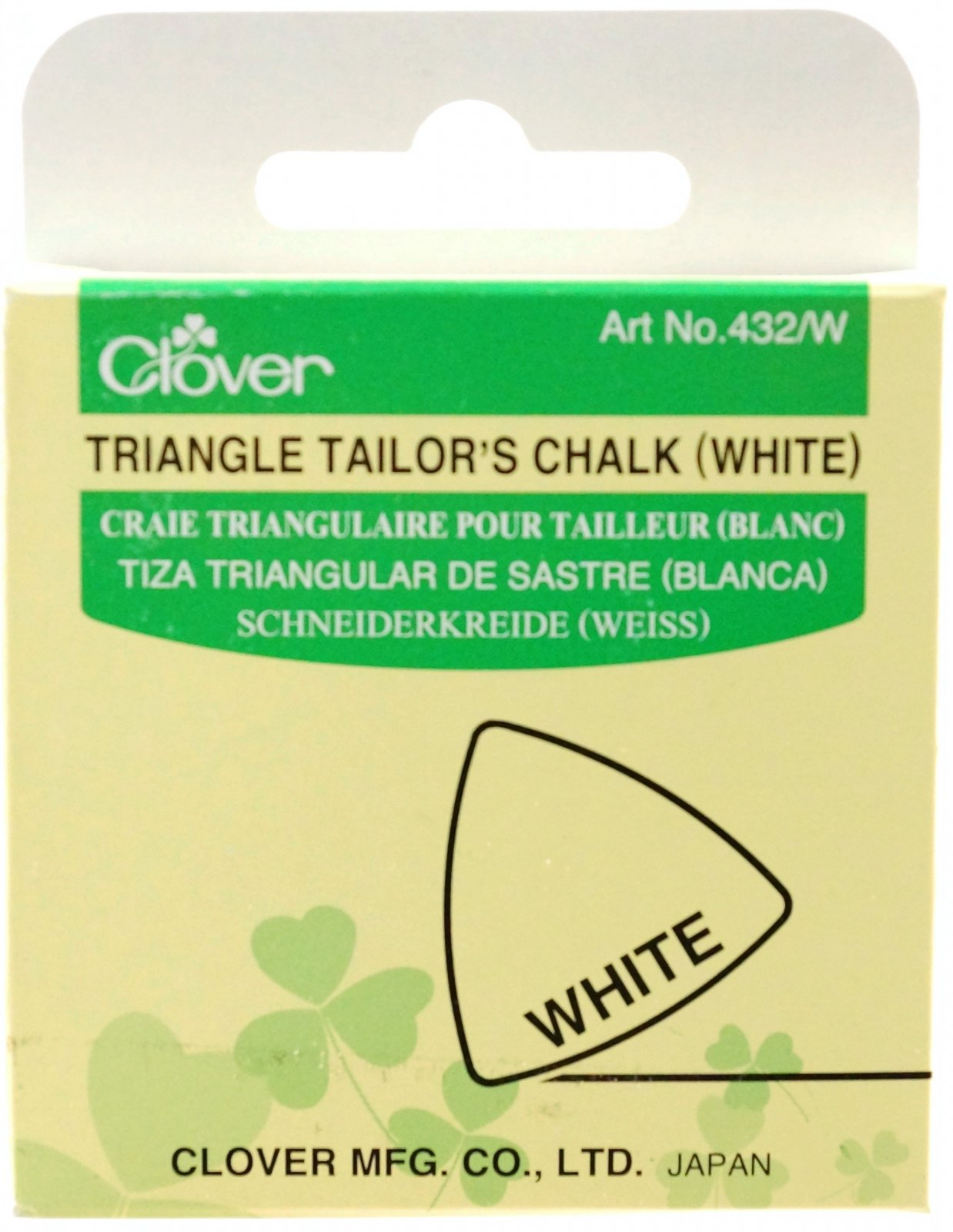 Clover - 432/W Triangle Tailor's Chalk (White)