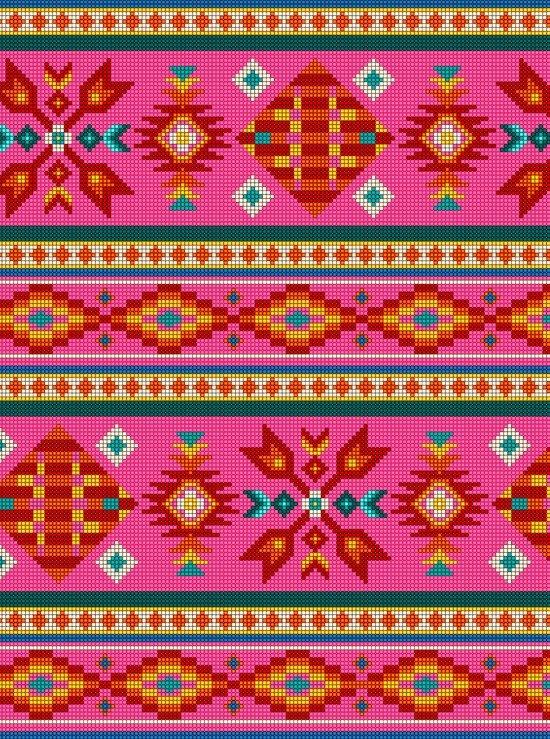 ES-Tucson 450 Beaded Stripe - Pink