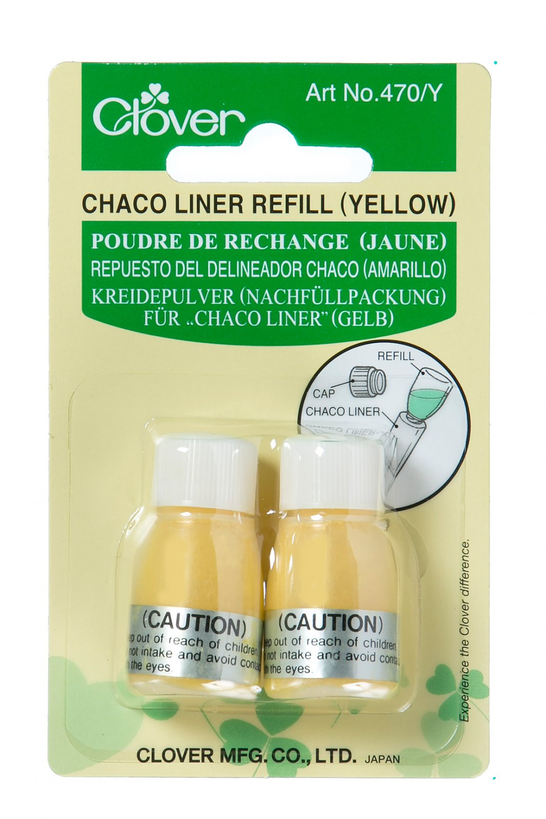 Clover - 470/Y Chaco Liner Refill (Yellow)