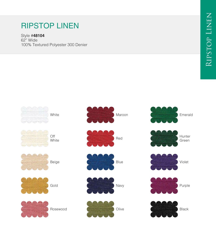 Ripstop Linen - Style # 48104 (15 Colors) 300 Denier