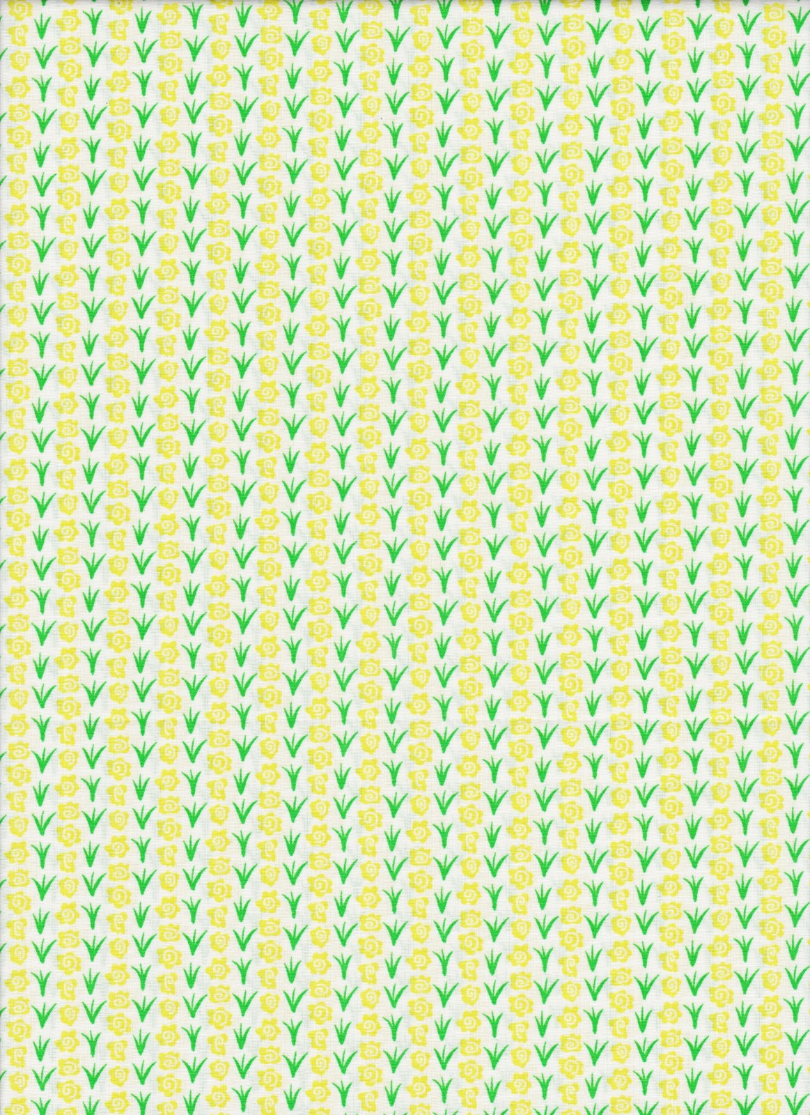 PROMO* FT-Children's Prints 49702 Green/Yellow - Calico Flower