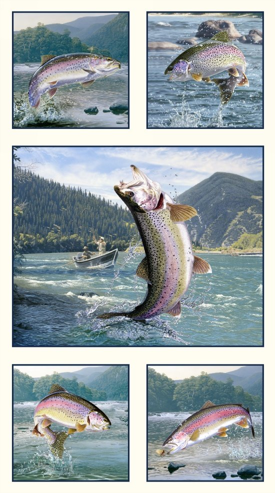 ES-Tight Lines 5019 Eggshell - Trout Panel (24 x 44)