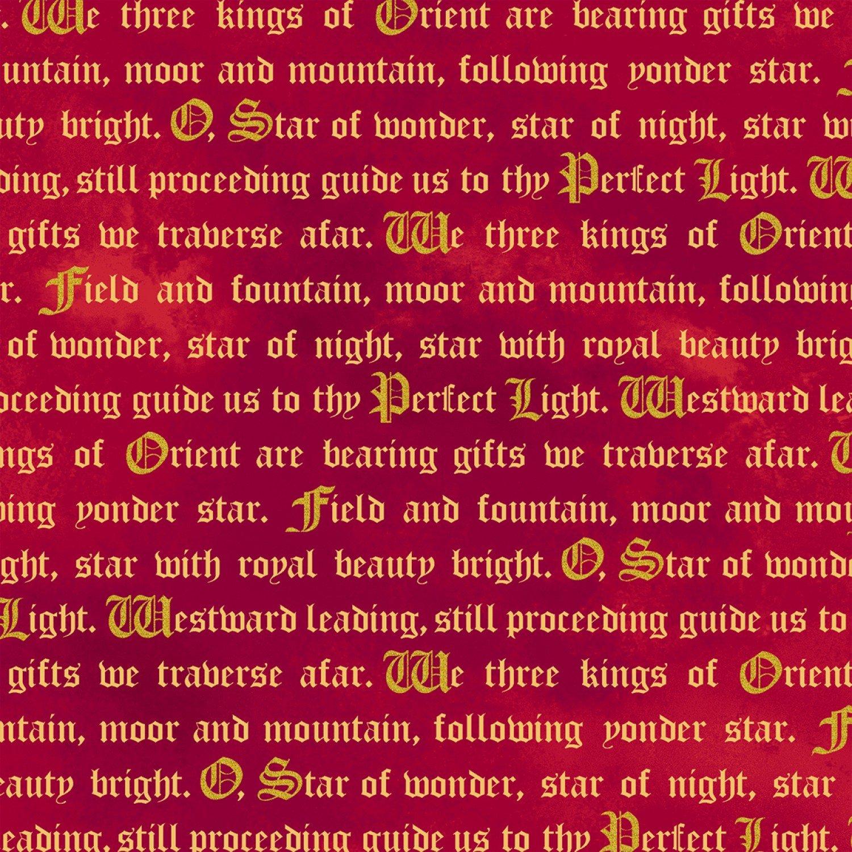 WF-Three Kings 50353M-3 Ruby Words w Metallic 225c206d8