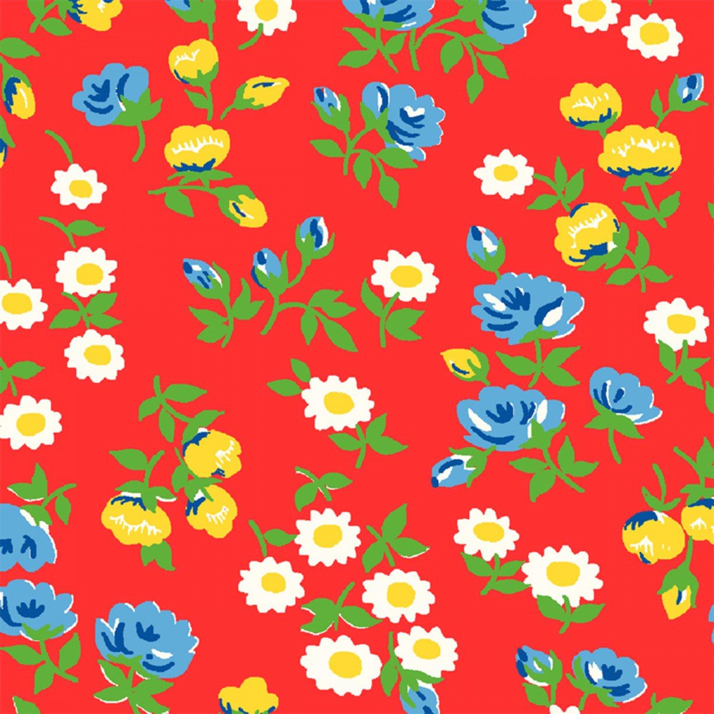 WF-Sugar Sack 50430-1 Red Mini Floral d468f0abb