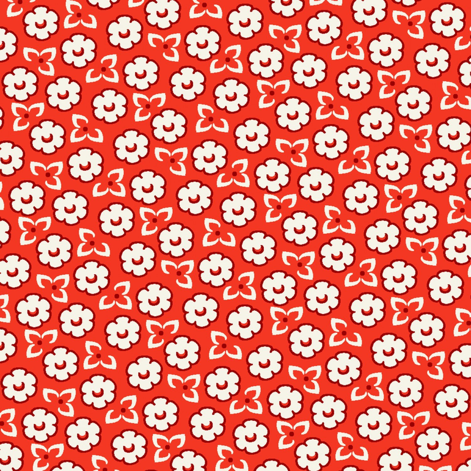 WF-Storybook Ranch 50706-2 Red Sweet Floral 3d647de03
